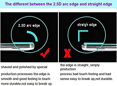 High Responsivity Premium Real Anti-Strike Shatterproof Bubble-Free Tempered Glass Screen Protector Film for Samsung Galaxy J3 V SM-J320V Verizon Phone