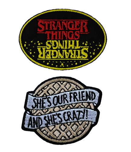 (Stranger Things Yellow/Red Oval Waffle 2PK Iron On Patch InspireMe Family Owned)