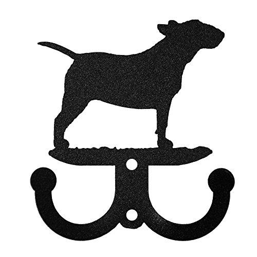 Bull Terrier Metal 2 Hook Key Chain Holder - Bull Keychain Metal