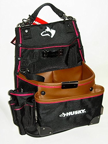 Husky GP-46666N14 3-Pocket Framer Pouch with Leather