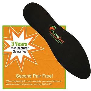 Hydrofeet Dynamic Liquid Massaging Orthotic Insoles Shoe Inserts Premium Glycerin Filled Insert Absorbs Shock Therapeutic Foot Massage for Plantar Fasciitis Flat Feet to Happy Feet (XS (Women 5-7))