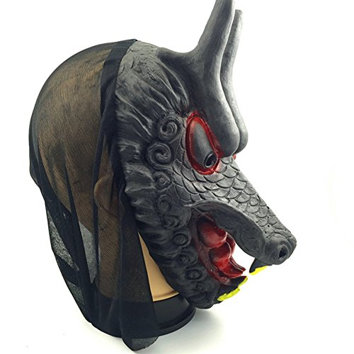 Halloween Horror Grimace Animal Mask Costume Party Latex Mask(Dragon Head) -