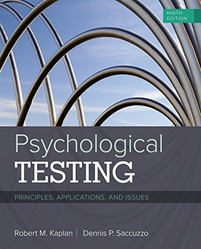 1337098132 - Psychological Testing: Principles, Applications, and Issues