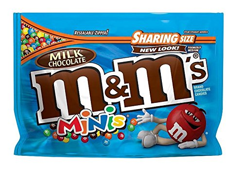 M&M New Flavor Chocolate Candy Sharing Size Pack (Milk Mini Chocolate) ()