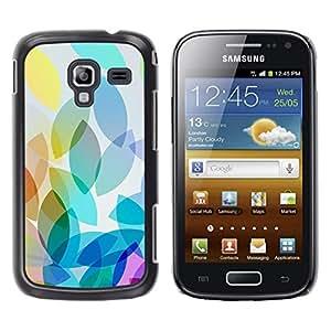 iKiki Tech / Estuche rígido - Oblong Pastel Teal Colors Fall - Samsung Galaxy Ace 2 I8160 Ace II X S7560M