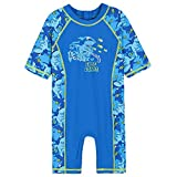 HUAANIUE Boys One Piece Swimsuit 3-10Y 50+UV Swimming Costume Outfits 8-9Y Blue