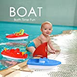 Children's Bath Pool Beach Toys 3pc Yachat, Speed Boat, Sailing Boat, Aircraft Carrier, Fisher Toy Set for Birthday Party, Halloween, Christmas