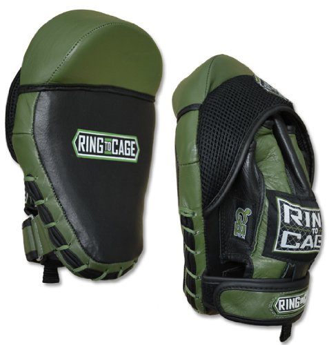 GelTech Cobra Curved Punch Spar-Mitt 3.0 for Muay Thai, MMA, Kickboxing, Boxing, Martial Arts by Ring to Cage
