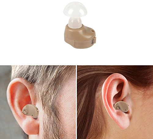 ght In Ear Sound Hearing Amplifier. [Custom Fit Earcaps] Adjustable Sound Volume Control, Tone Enhancer, Helps Hear Sound Clearly & Loudly! [1 Pack] (Silicone Sound Amplifier)