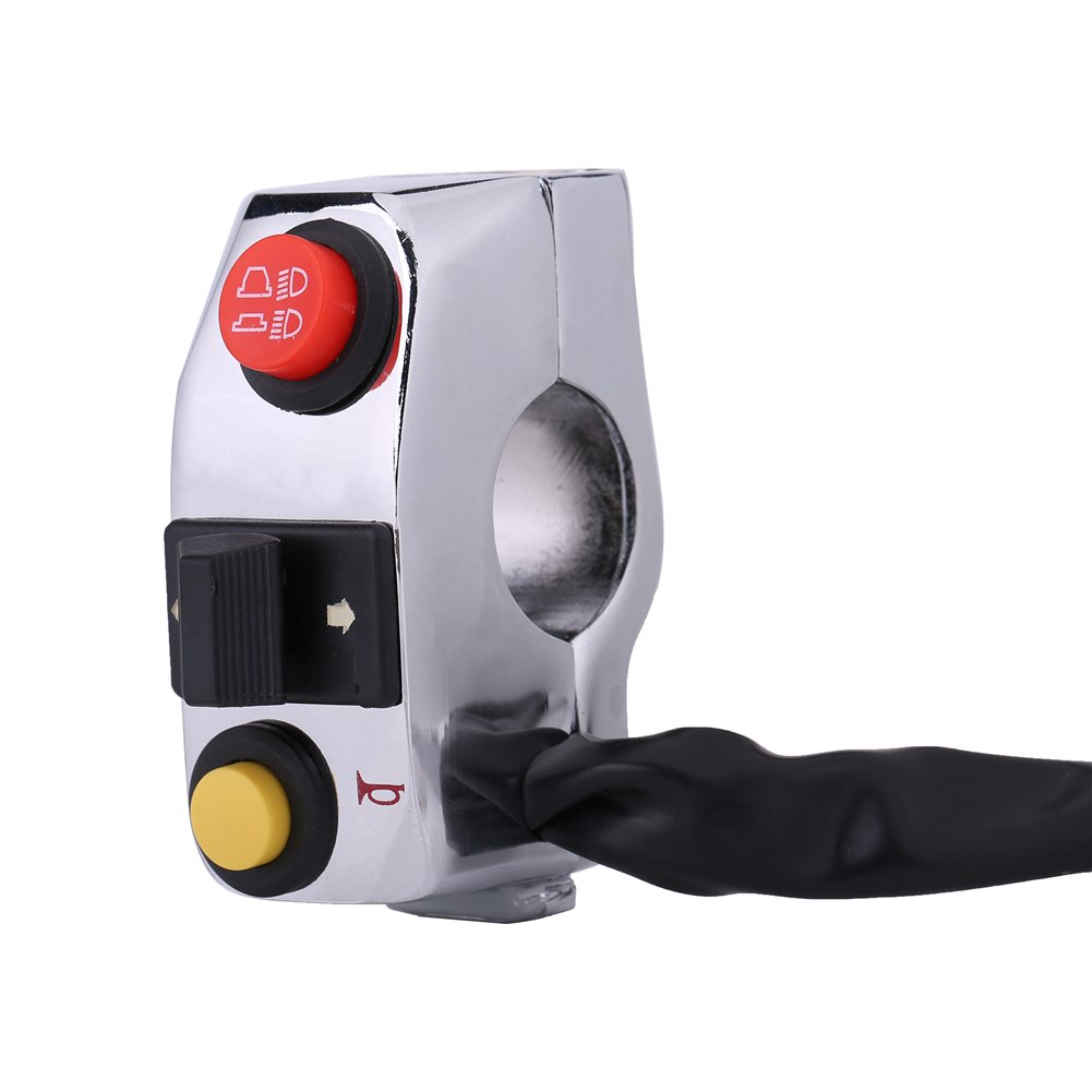 Interruptor de control de manillar universal de 7/8 pulgadas para motocicleta con interruptor de giro de bocina y control de haz alto bajo Keenso