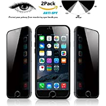 [2 Pack] iMoreGro iPhone 7 Plus Privacy Screen Protector, Anti-Spy Tempered Glass Screen Guard for Apple iPhone 7 Plus 5.5 inch - Keep Your Information Private, Protect Your Screen from Scratches