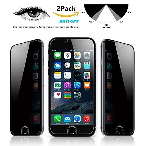 [2 Pack] iMoreGro Privacy Screen Protector, Anti-Spy Tempered Glass Screen Guard Compatible with iPhone 7 Plus 5.5 inch - Keep Your Information Private, Protect Your Screen from Scratches