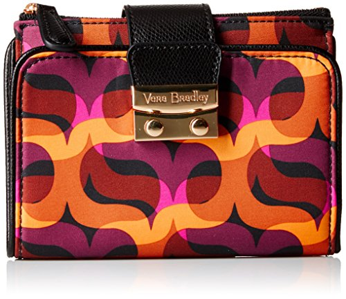 (Vera Bradley Women's Pushlock Wallet, Modern Lights, One Size)