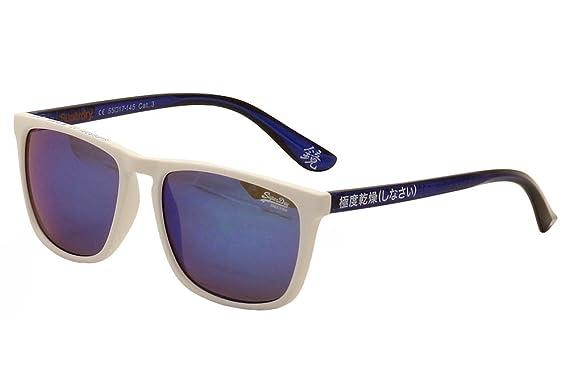e9053fe7f44 Superdry - Lunettes de soleil avec bord coloré - SDS shockwave - Blanc -  taille unique