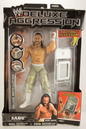 WWE - 2007 - Deluxe Aggression Series 07 - Sabu Action Figure - w/ Face Print Chair - Limited Edition - Collectible