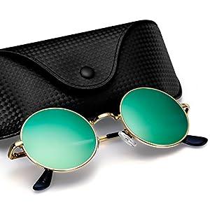 Argus Le Retro Round Vintage Polarized Vintage Sunglasses with Plain Lens
