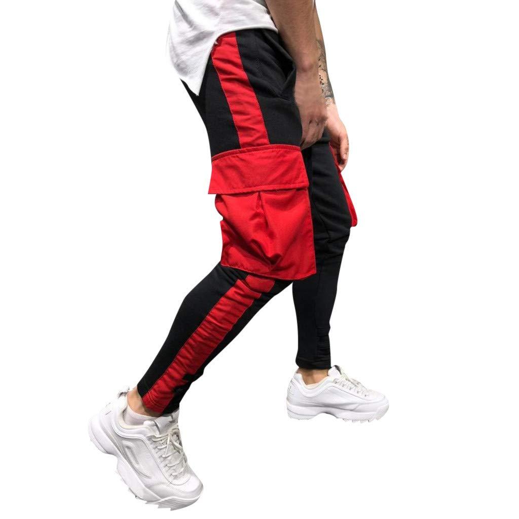 NRUTUP Men Sport Jogging Fitness Pant Casual Loose Sweatpants Drawstring Pant