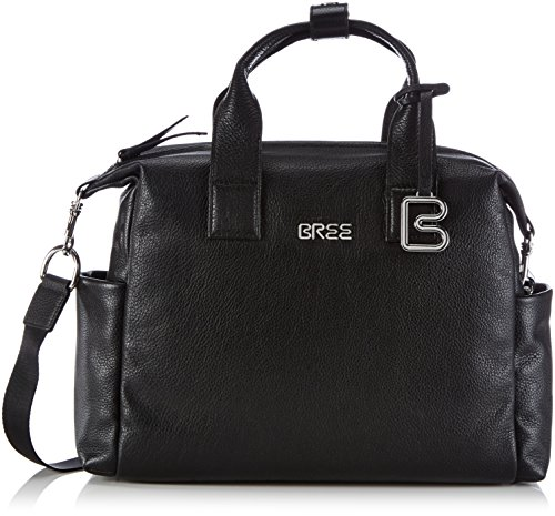 BREE Collection NOLA 7, Blue, Business Bag Grained - Bolso de Hombro para Mujer Negro (Black 900)