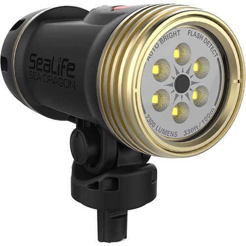 SeaLife SL6740 Sea Dragon 2300 UW Photo/Video LED Dive Light (Head Only) by SeaLife