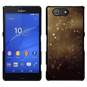 EJOY---Cubierta de la caja de protección para la piel dura ** Sony Xperia Z3 Compact ** --Verano polvo Manchas Marrón Naturaleza