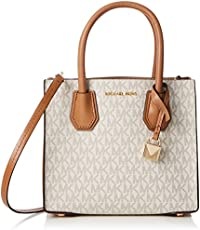 c34f40dfaaa0 Michael Kors Mercer Signature Messenger Bag - Vanilla