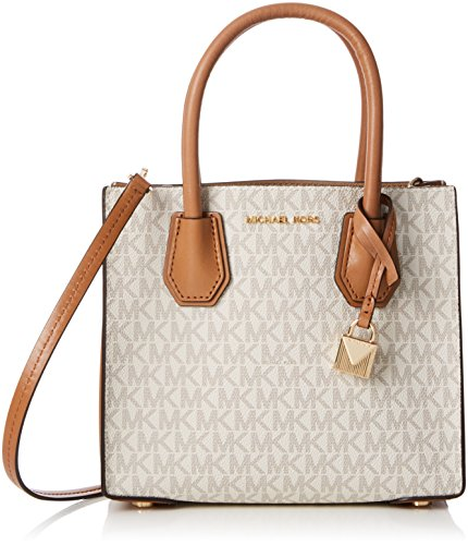 Michael Kors Mercer Signature Messenger Bag - Vanilla
