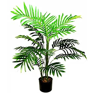 Admired By Nature Artificial Paradise Palm Tree Plant in Plastic Pot 10