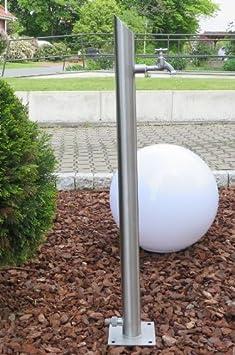 Wassersäule SR-S 1010mm Zapfsäule rund Bewässerung Gartenschlauch Spender Zapfstelle Zapfsäule