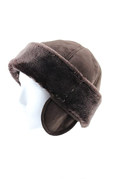 3c3bb3269 FUR WINTER Faux Sheepskin Shearling Cuff Roller Pill Box Hat with ...