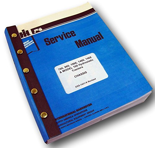 International 766 966 1066 1466 Tractor Service Repair Shop Manual Ih Technical - International Service Manual
