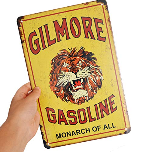 Gasoline tin signs