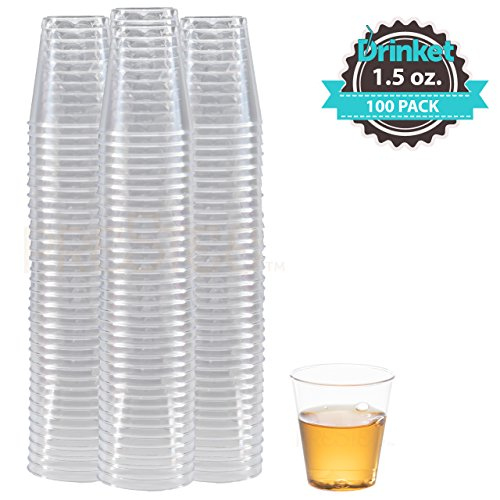Cheap  DRINKET CLEAR PLASTIC SHOT GLASSES 1.5 Oz - Disposable Shot Glasses Bulk..