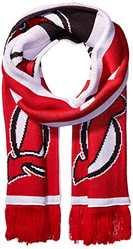s SP17 Repeating Logo Jacquard Scarf, Red, One Size (Detroit Red Wings Banner)
