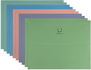 "Fasmov 2"" Expansion Big Smile Letter Size Booklet File Folder, Expansion Envelope"