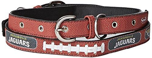 (GameWear NFL Jacksonville Jaguars Pebble Grain Football Collar & Leash Gift Pack, Large, Brown)