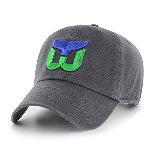 NHL Hartford Whalers Male OTS Challenger Adjustable Hat, Dark Charcoal, One Size
