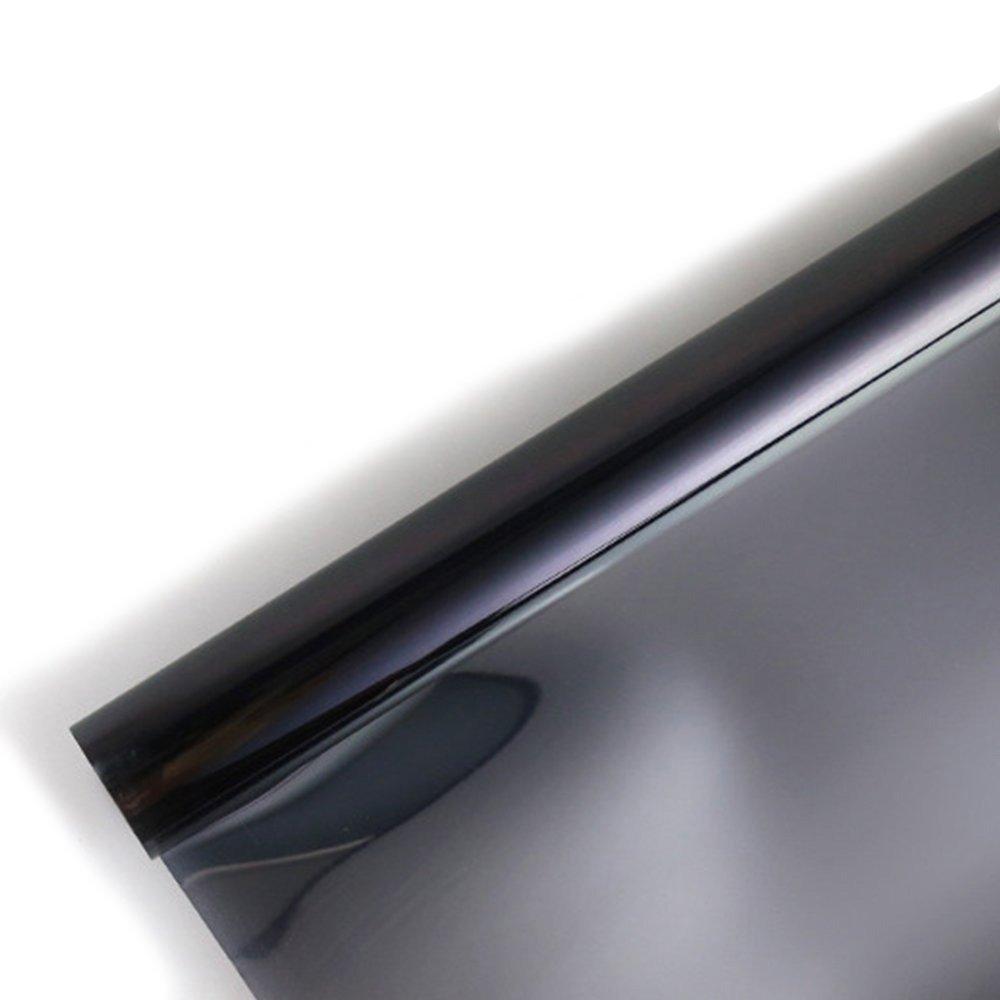 Concus-T Aislamiento té rmico Pelí cula reflectante de privacidad Pelí cula solar para la privacidad y decoració n del hogar, Negro 60x200cm