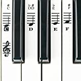 Piano Stickers for 49 / 61/ 76 / 88 Key Keyboards - Transparent and Removable with Free Piano Ebook