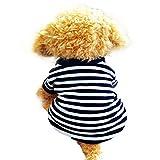 HP95 Dog Shirt - (TM) 2015 Fashion Summer Pet Dog Classic Wide Stripes T-Shirt - Doggy Clothes Cotton Shirts (White - S)