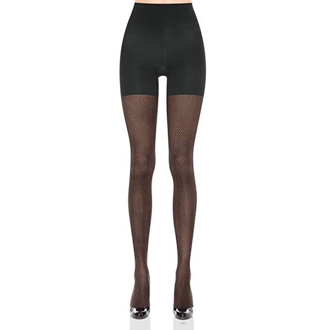 c378201f92447 Image Unavailable. Image not available for. Color: SPANX Black Patterned  Tight End Tights ...