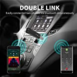 Bluetooth Receiver, SZMDLX Portable Wireless Audio Aux Adapter Bluetooth 4.2 Car Kits with Clip Design (A2DP, Built-in Microphone for Home and Car Audio with 3.5mm Stereo Output)