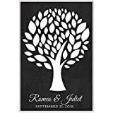 Personalized Guestbook Poster, Guestbook Alternative, Signing Tree with 70 leaves. Wedding Memory Signature Keepsake Gift. Signature Tree.