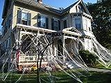Halloween Decoration Spider Web with Fake Spider for Outdoor Indoor Décor Large Cobwebs Spider Silk House Window Door Garden Bar Costume Spooky Party Favor Mischievous Supplie.
