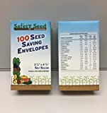 100 BLANK SEED ENVELOPES 3 1/4 X 4 3/4 inches (SELF SEALING) WHITE in and Attractive and Informative Storage/Gift Box