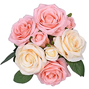 Artiflr Artificial Flowers Rose Bouquet 52