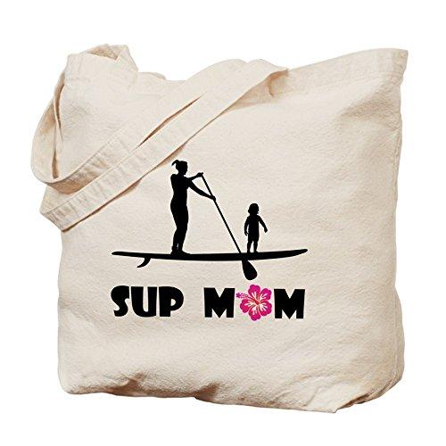 CafePress - SUP Mom Color Tote Bag - Natural Canvas Tote Bag, (Paddle Aloha Design)