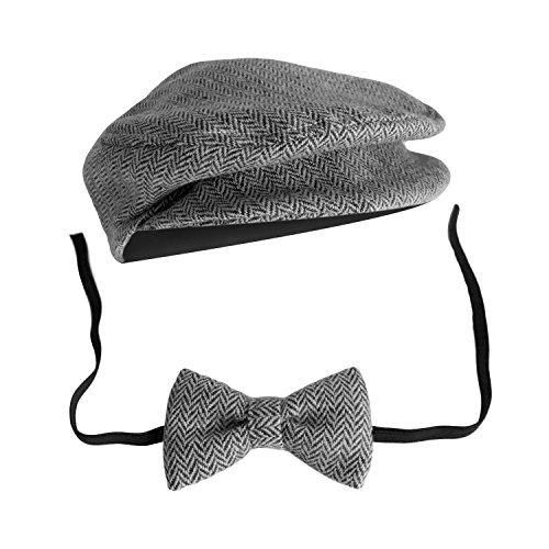 Tie Dark Hat Newborn Cap Props Elegant Bow Photography Blue Grey Clothing Gentleman Headdress Boys Costume Baby Accessories Style Sx1qxZ