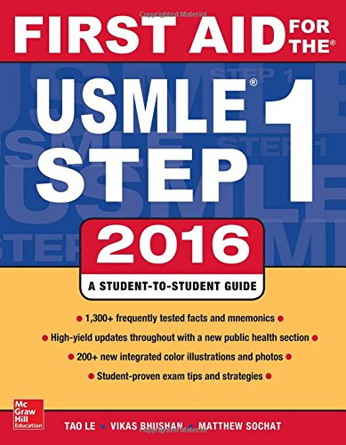 First Aid for the Usmle Step 1, 2016 cover