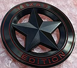 Muzzys (Set of TWO) Texas Edition Star BLACK and Red Round 3\