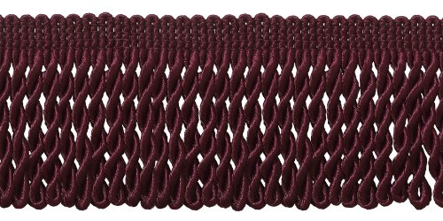 10 Yard Value Pack of Burgundy 2.5 Inch Bullion Fringe Trim,